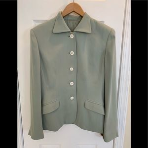 Jackets & Blazers - Light green fully lined tailored jacket
